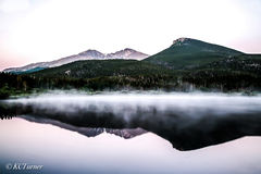 Lily Lake, rocky mountain national park, Colorado, Longs Peak, Mount Meeker, sunrise reflection, photogenic scenery, landscape photo op