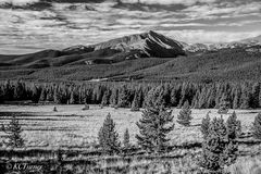 monochromatic prints, rich blacks, whites, silvers, photograph, Mount Lincoln, beautiful, fall, Colorado afternoon, shooting, landscapes, Boreas Pass, Breckenridge