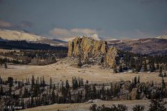 morning, sunrise, Tarryall, Colorado, pike National Forest, clouds, winter, landscape, panorama