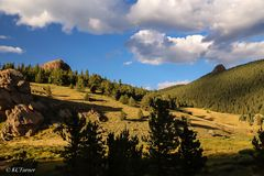 Lost Park Wilderness, domes, hiking, photographic landscapes, sight seeing, Colorado, Pike National Forest, panorama