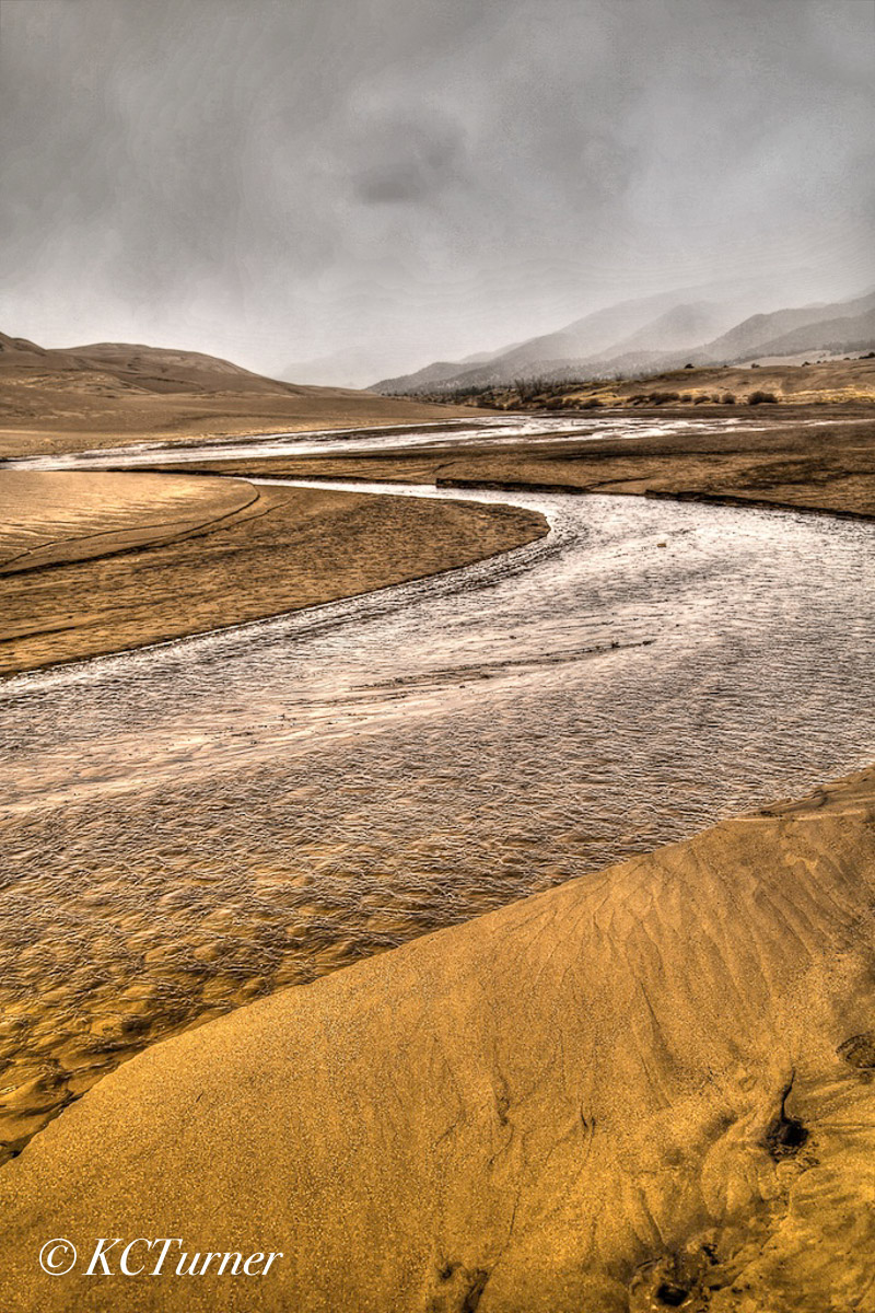 Sand Dunes, Colorado, spring rains, flash streams, landscapes, photo