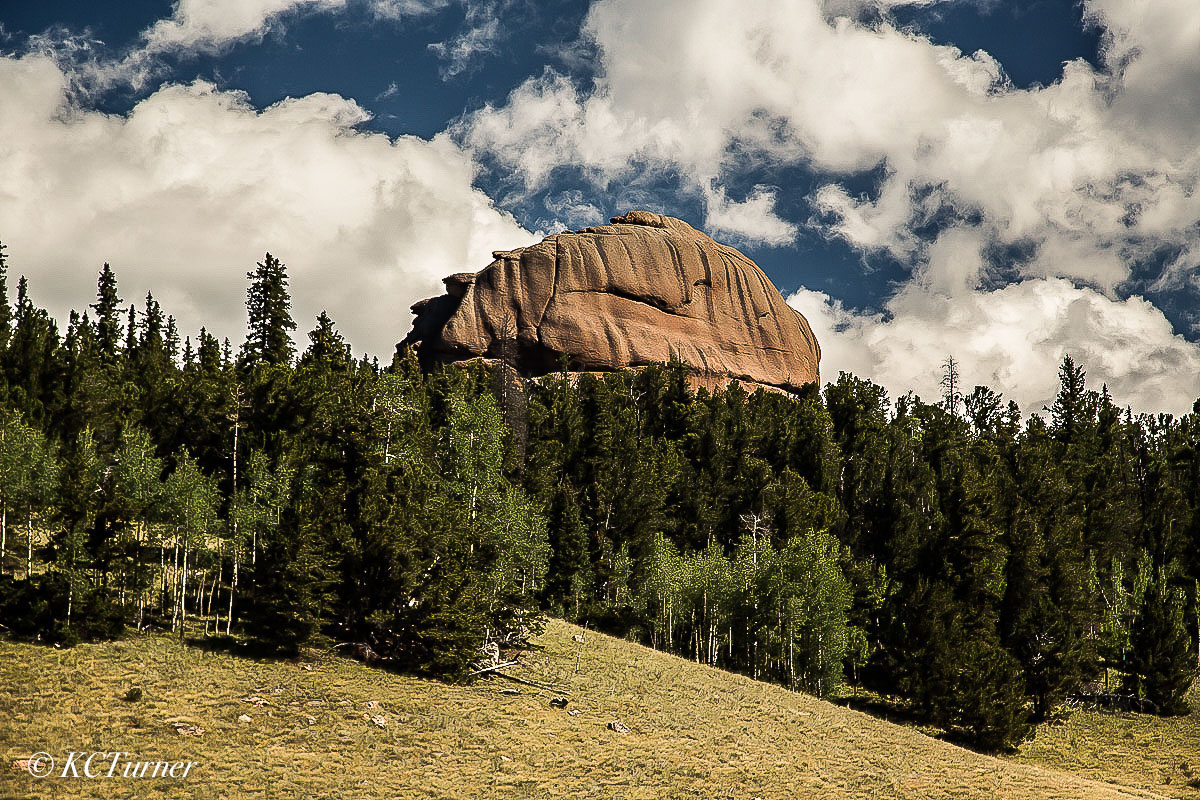 Lost Creek Wilderness, landscape, dome outcroppings, trail markers , photo